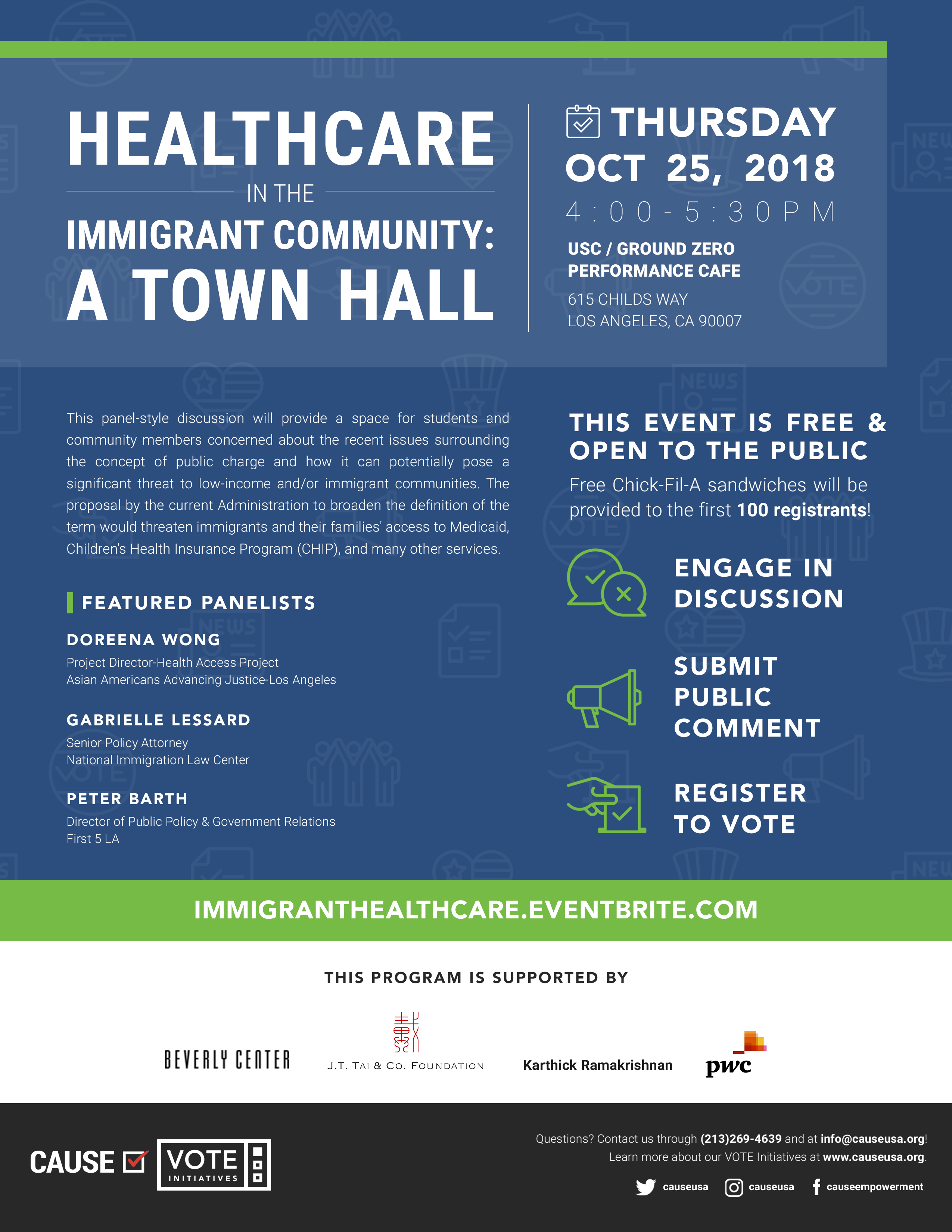 Healthcare Townhall flyer