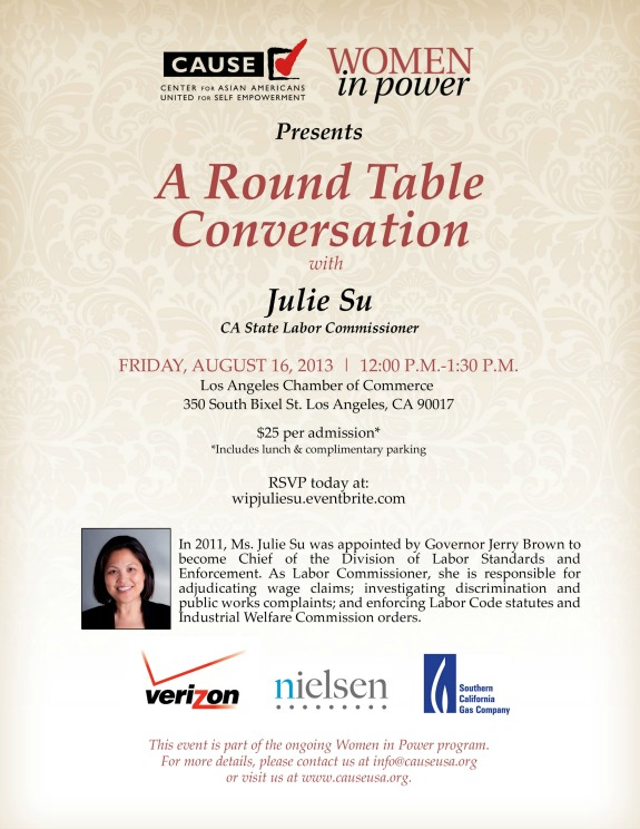 A Round Table Conversation with Julie Su
