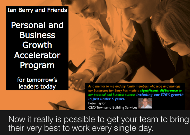 Ian Berry's Personal and Business Accelerator Program