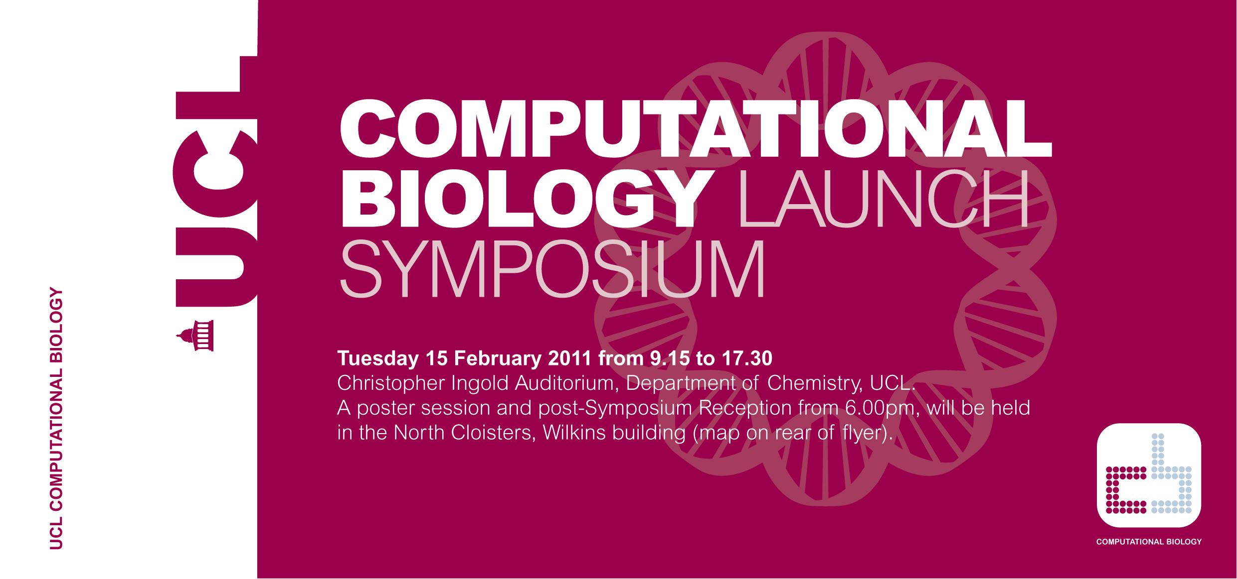 UCL Computational Biology Symposium Flyer