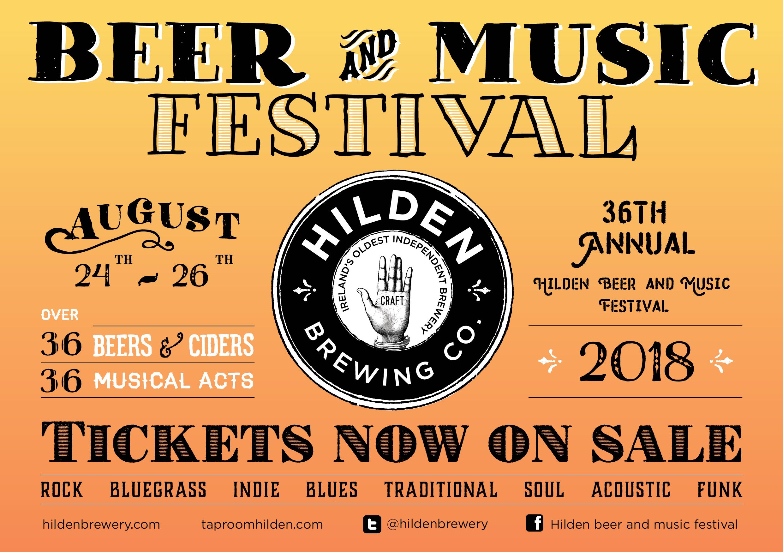 Hilden Beer and Music Festival Flyer
