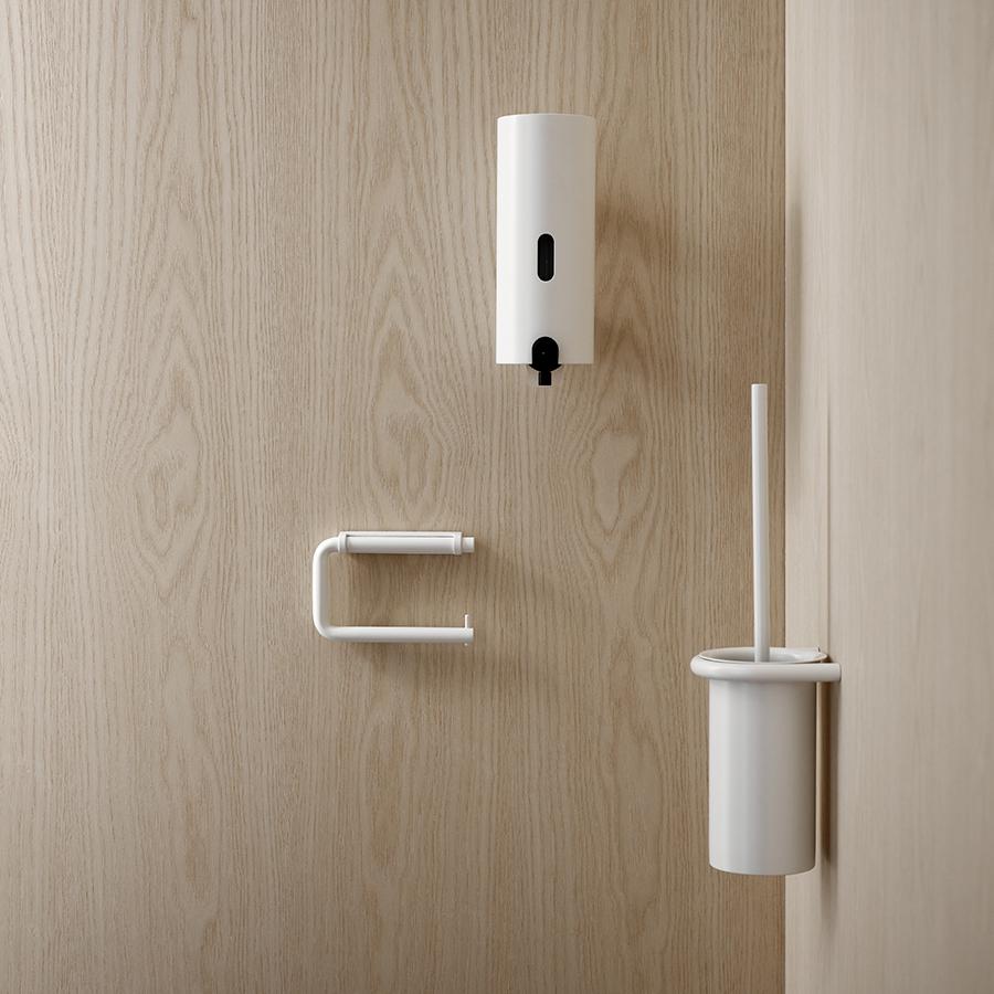 White Bathroom Hardware