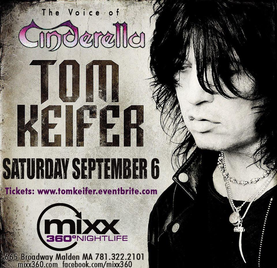 TOM KEIFER the Voice of CINDERELLA live at Mixx360 Malden MA 9.6.14