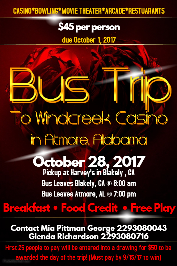 Casino bus trips atmore al the pocket idiots guide to casino comps