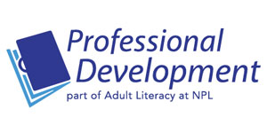 logo for Professional Development | part of Adult Literacy at NPL