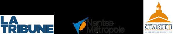 Partenaires de l'événemnt : La Tribune -  Chaire ETI - Nantes Métropole