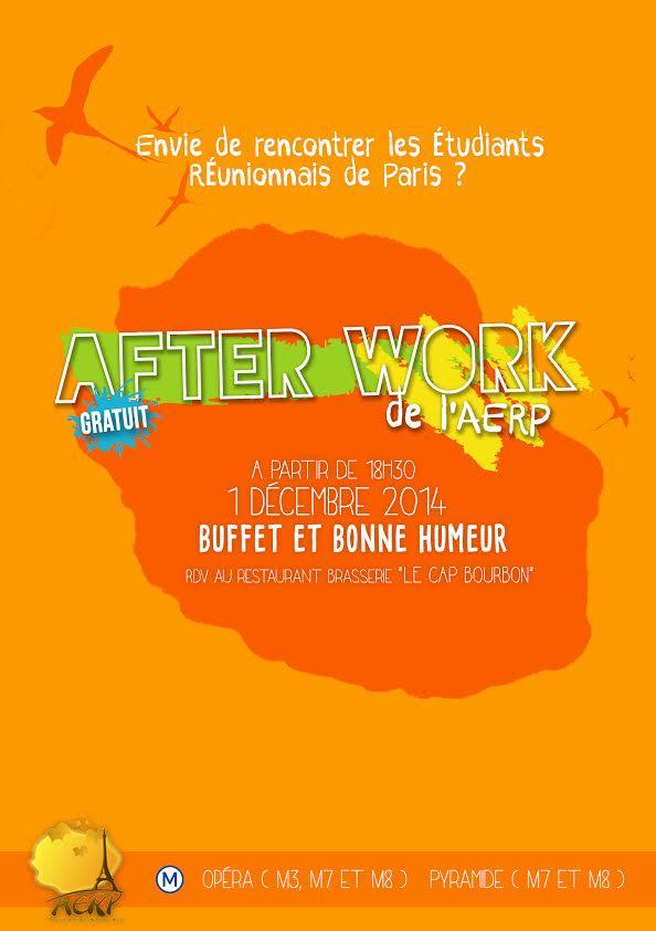 After Work AERP, lundi 1er décembre 2014 à partir de 18h30