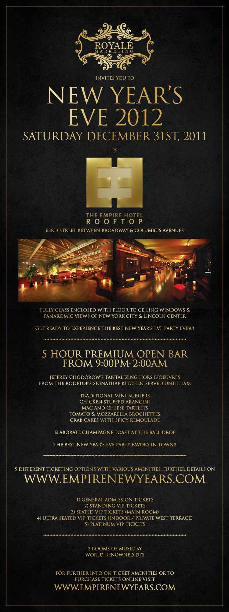 New Years Eve At The Empire Hotel Rooftop Tickets, Sat ...