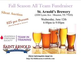 St. Arnold's Fall Season All Team Fundraiser