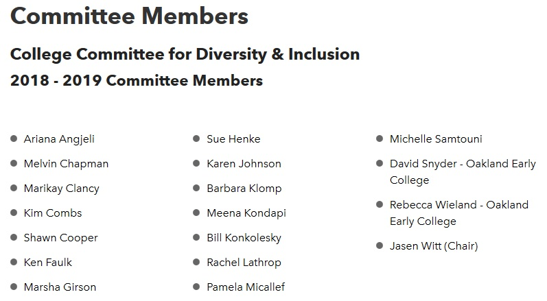 committee members for CCDI