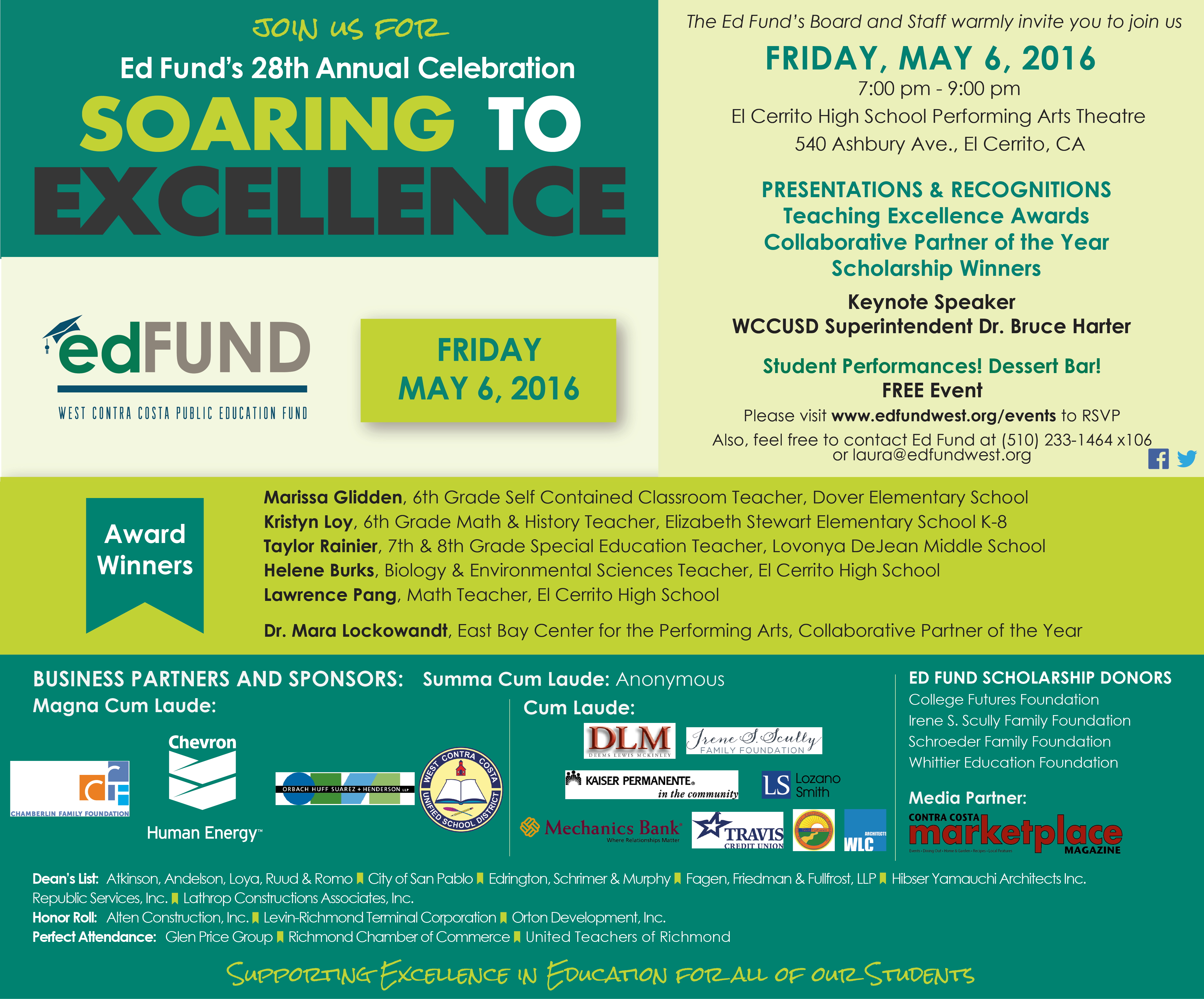 Soaring to Excellence Celebration invite