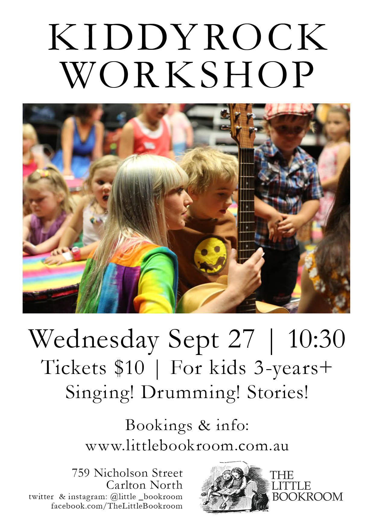 Kiddyrock Workshop at The Little Bookroom