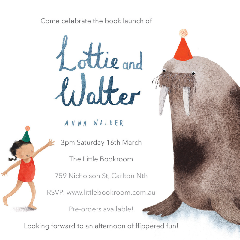 Lottie and Walter book launch invitation