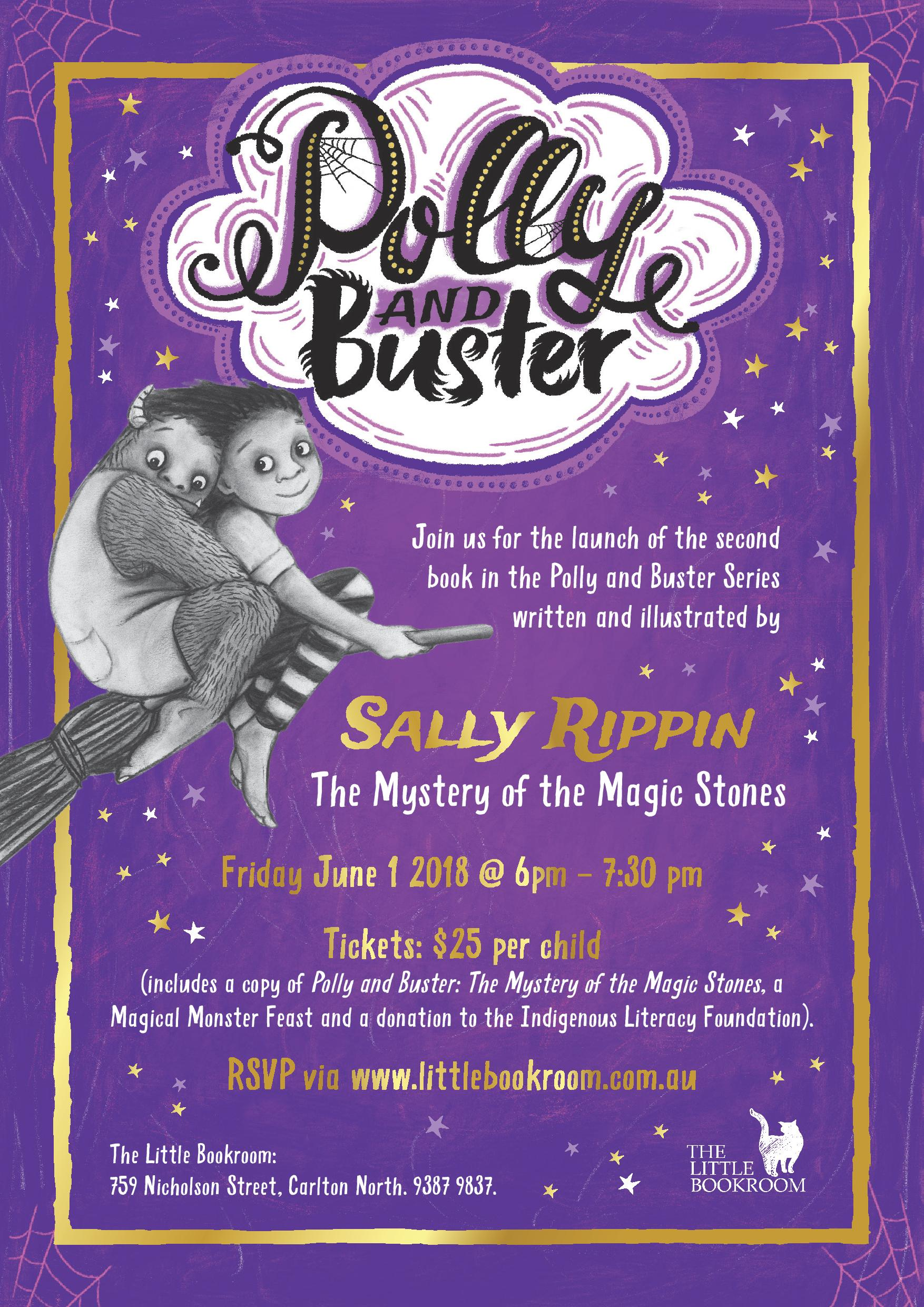 Book Launch: Polly and Buster The Mystery of the Magic Stones by Sally Rippin