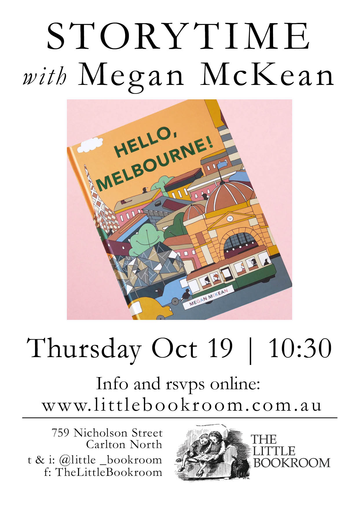 Storytime with Megan McKean - Thursday October 19th 10:30am