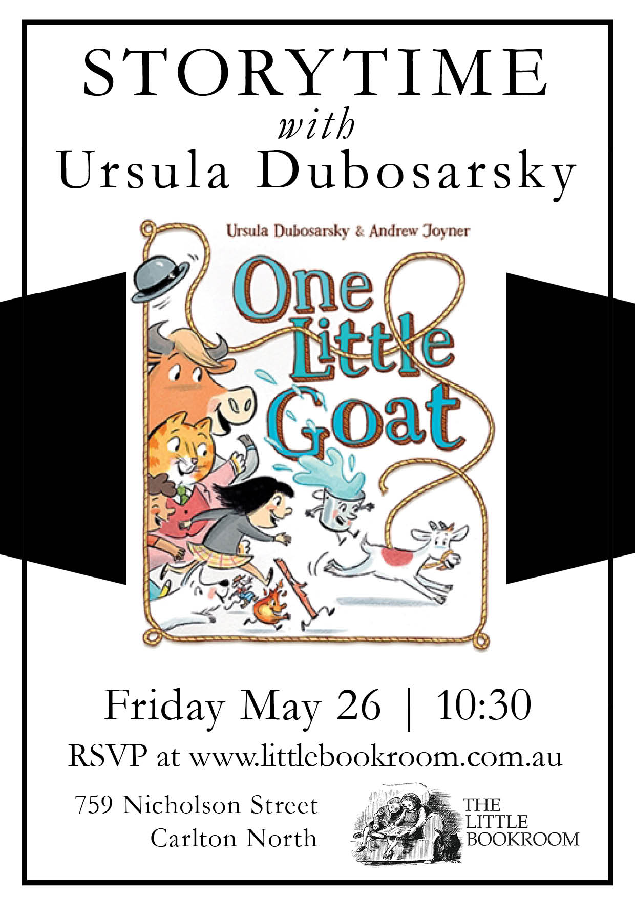 Storytime with Ursula Dubosarsky to celebrate the release of One Little Goat