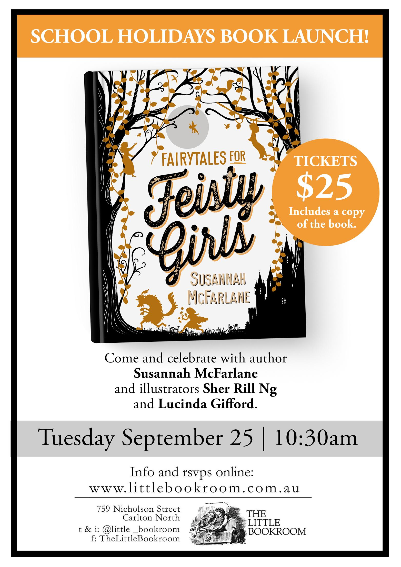 Fairytales For Feisty Girls Book Launch Tuesday September 25 10:30am