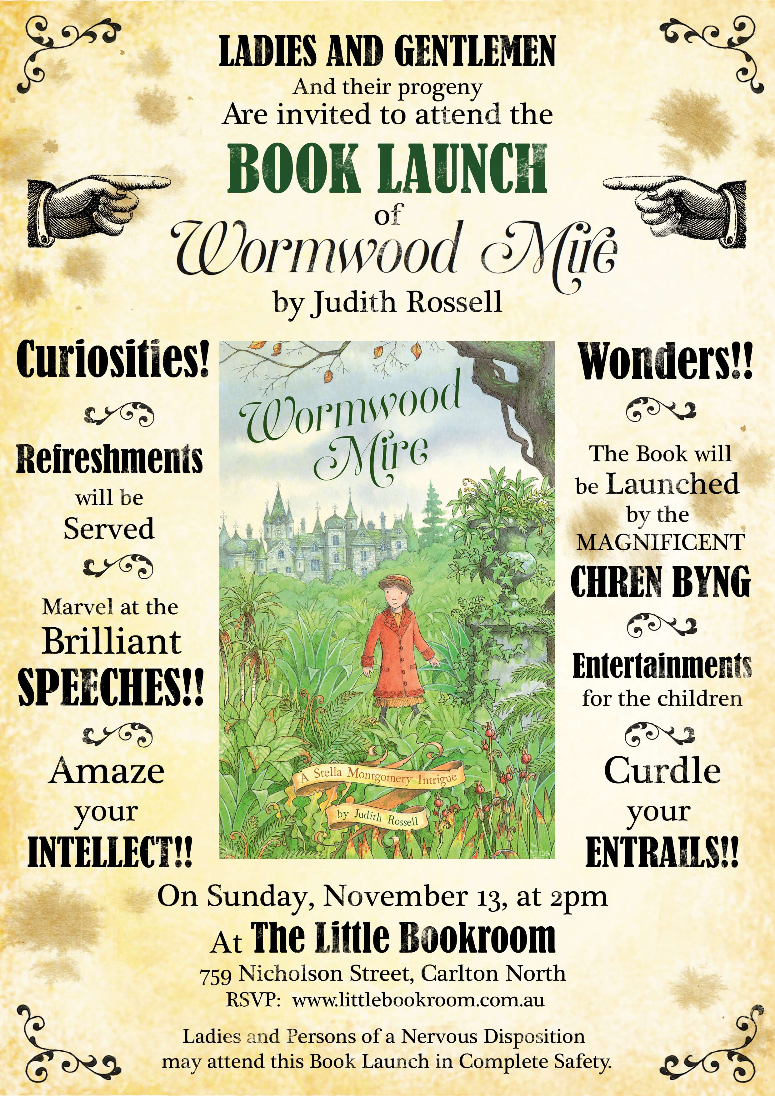 Book Launch: Wormwood Mire by Judith Rossell