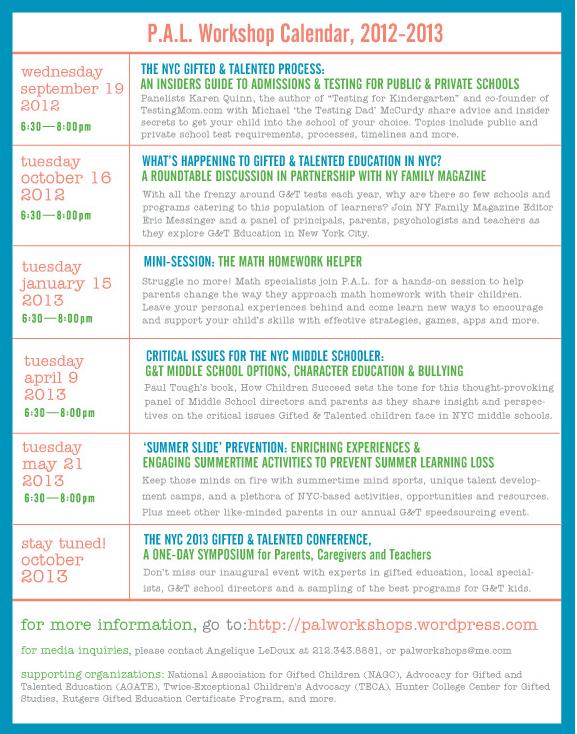 PAL Calendar 2012-2013