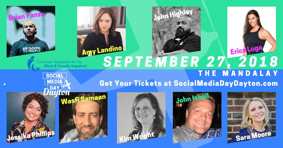 Social Media Day Dayton Speaker Lineup 2018