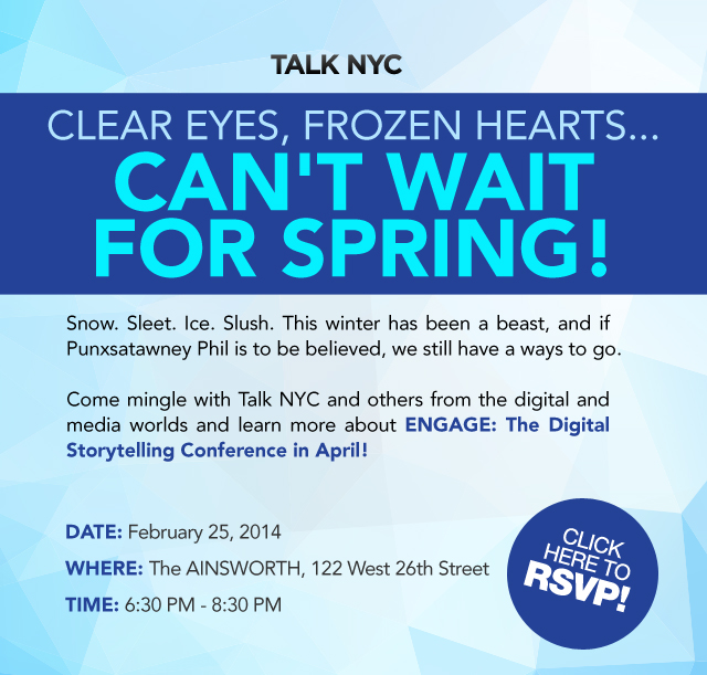 Network with TALK NYC on February 25th at The Ainsworth!