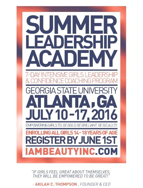 Summer Leadership Academy Flyer