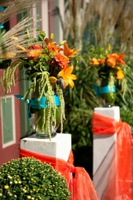 Gorgeous ceremony arrangements from A Garden Party
