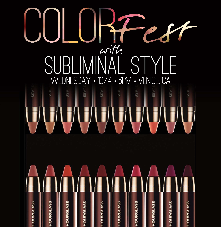 Different Colored Hourglass Lipsticks