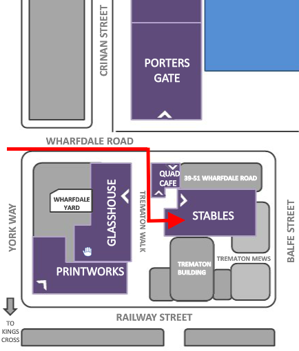 Map to the Stables