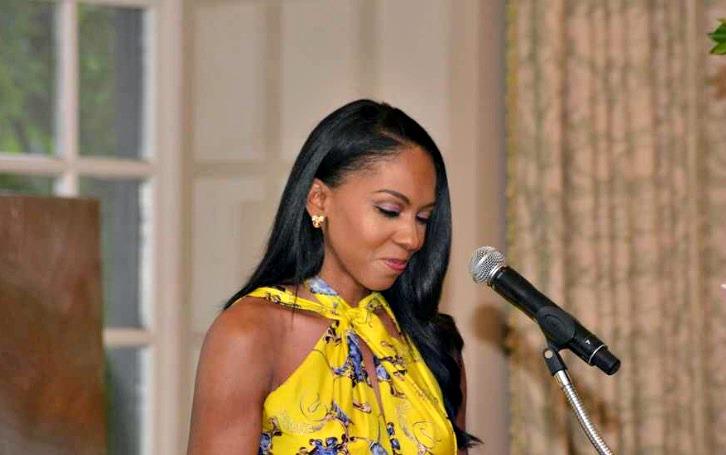 Sarah Elizabeth Reed speaking at the Awards Ceremony