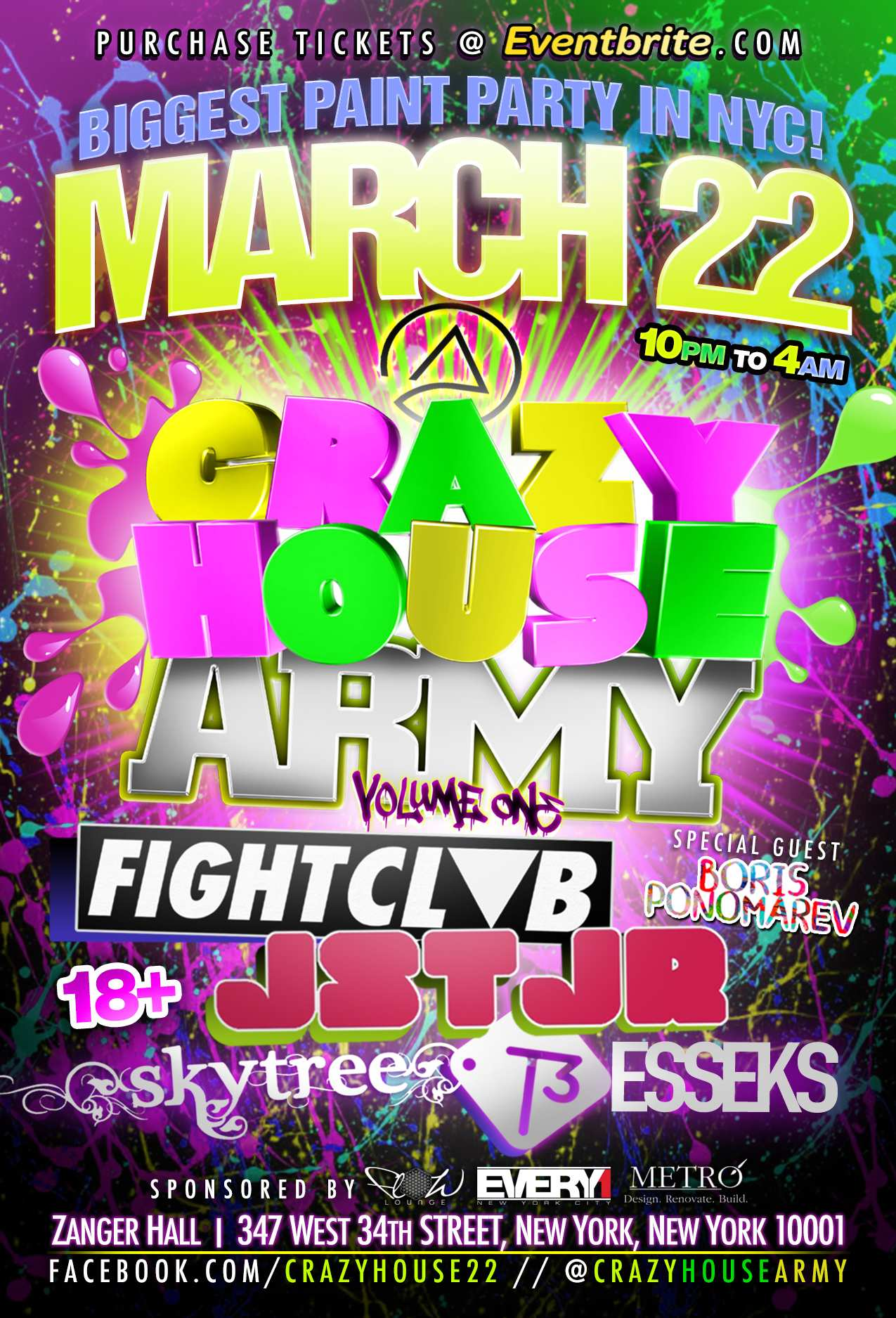 CRAZY HOUSE ARMY MARCH 22 NEW YORK CITY