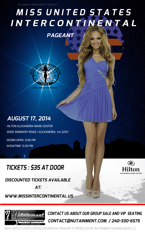 Miss United States Intercontinental 2014 National Pageant