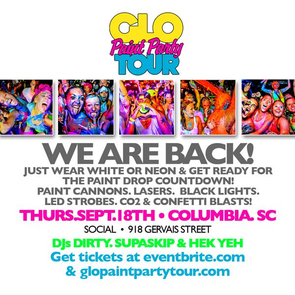 Glo Paint Party Tour Columbia Sc