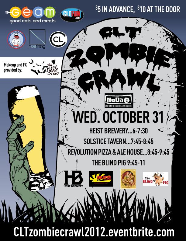 The CLT Zombie Crawl Strkes This Halloween In NoDa
