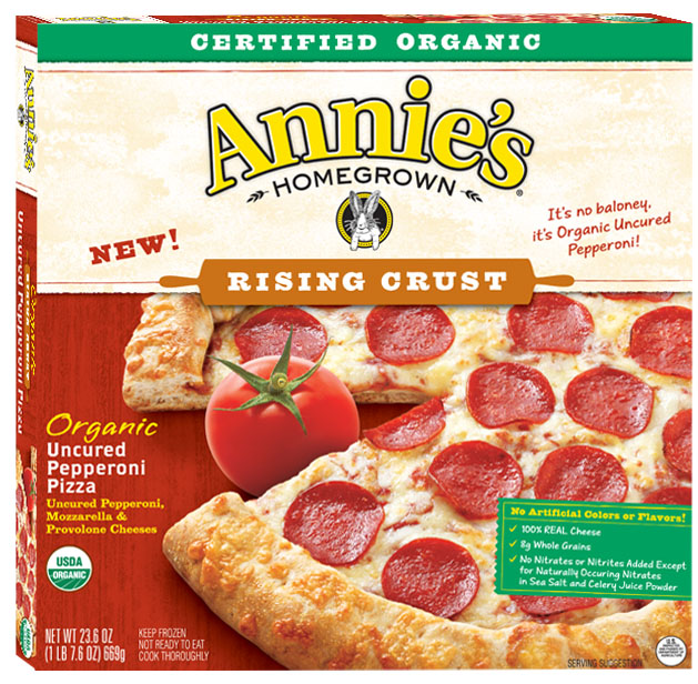 Annie's homegrown pepperoni pizza box