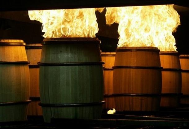 charred barrels