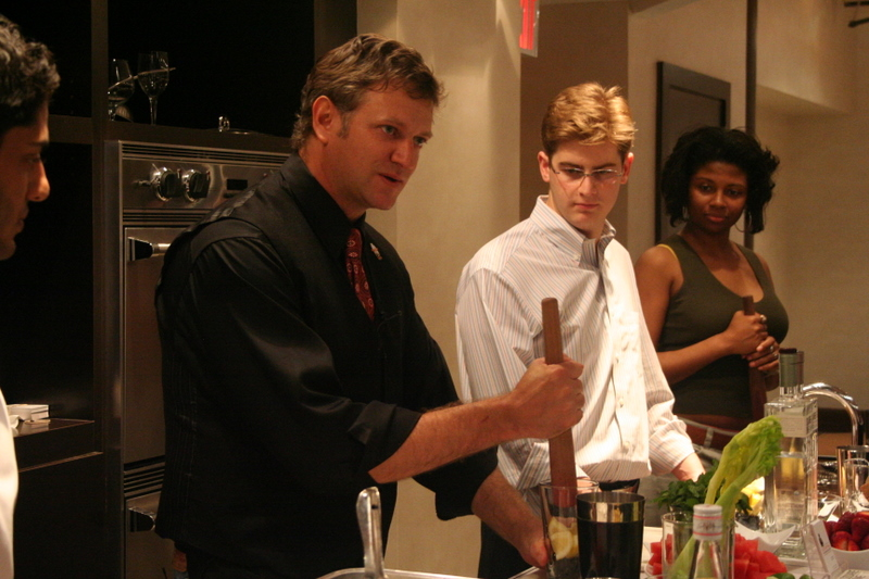 Instructor H. Joseph Ehrmann teaches Mixology 101 at The Astor Center in NYC