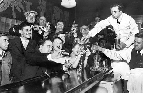 an old bar celebrates
