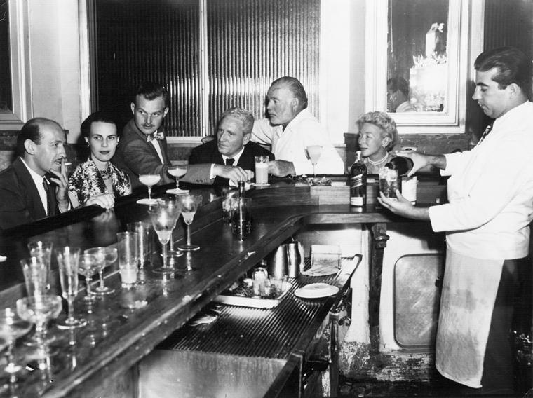 Hemingway in La  Floridita