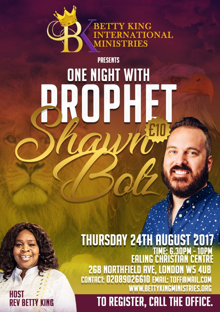 One night with Shawn Bolz