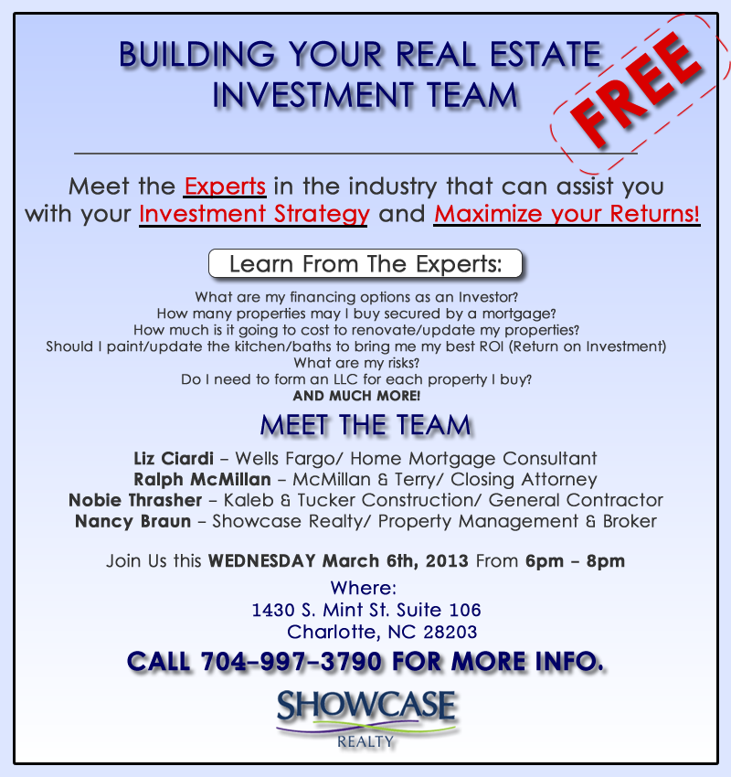 Building your real estate investment team