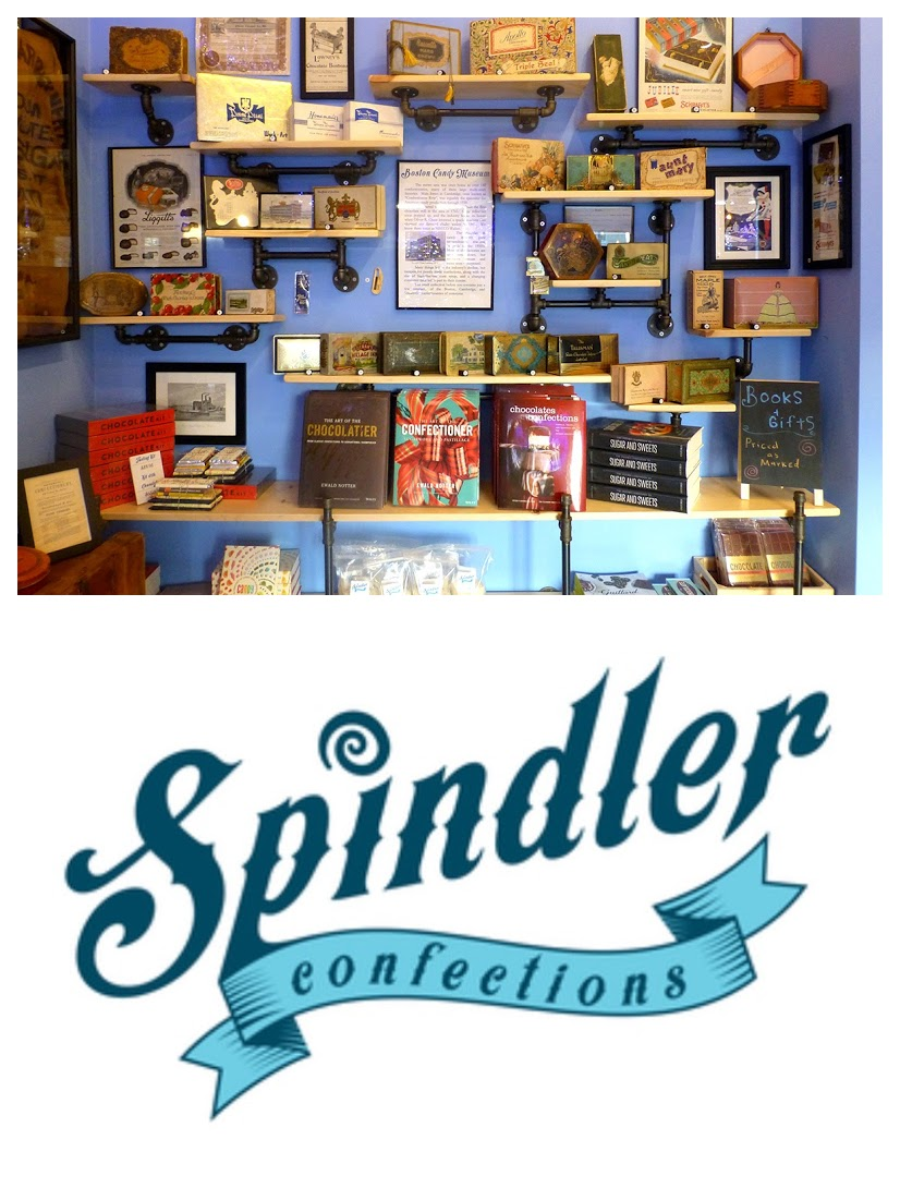 Spindler Confections Candy Museum and Logo