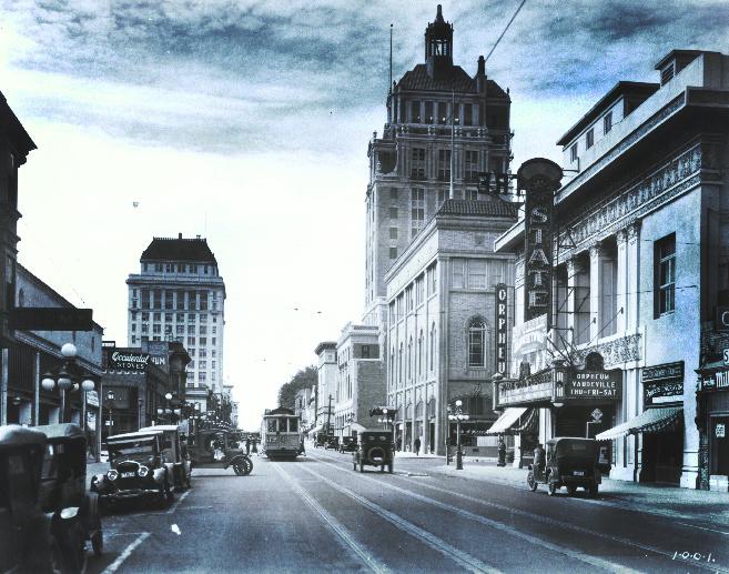 Historic Old Photo of J Street - Sacramento