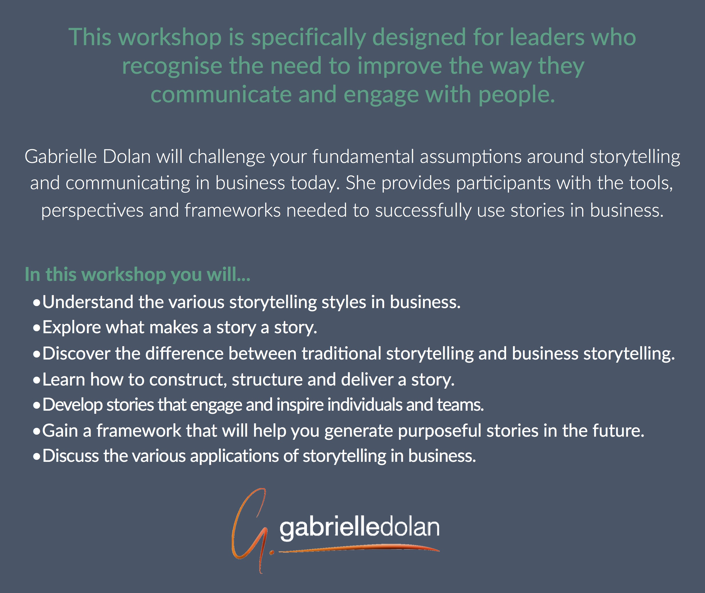 Business Storytelling Workshop Melbourne