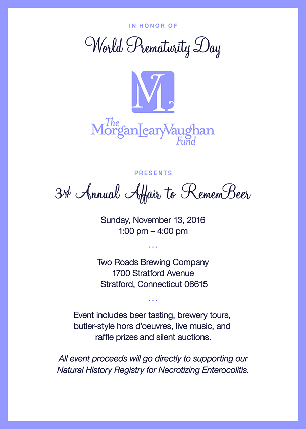 3rd Annual Affair to RememBeer Invitation