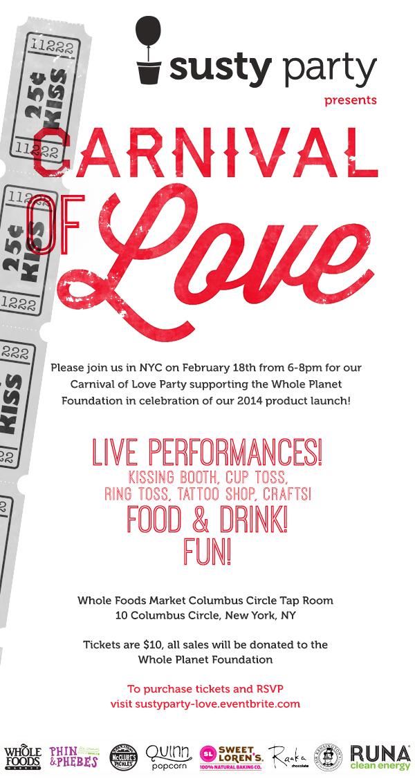 Carnival of Love Invite