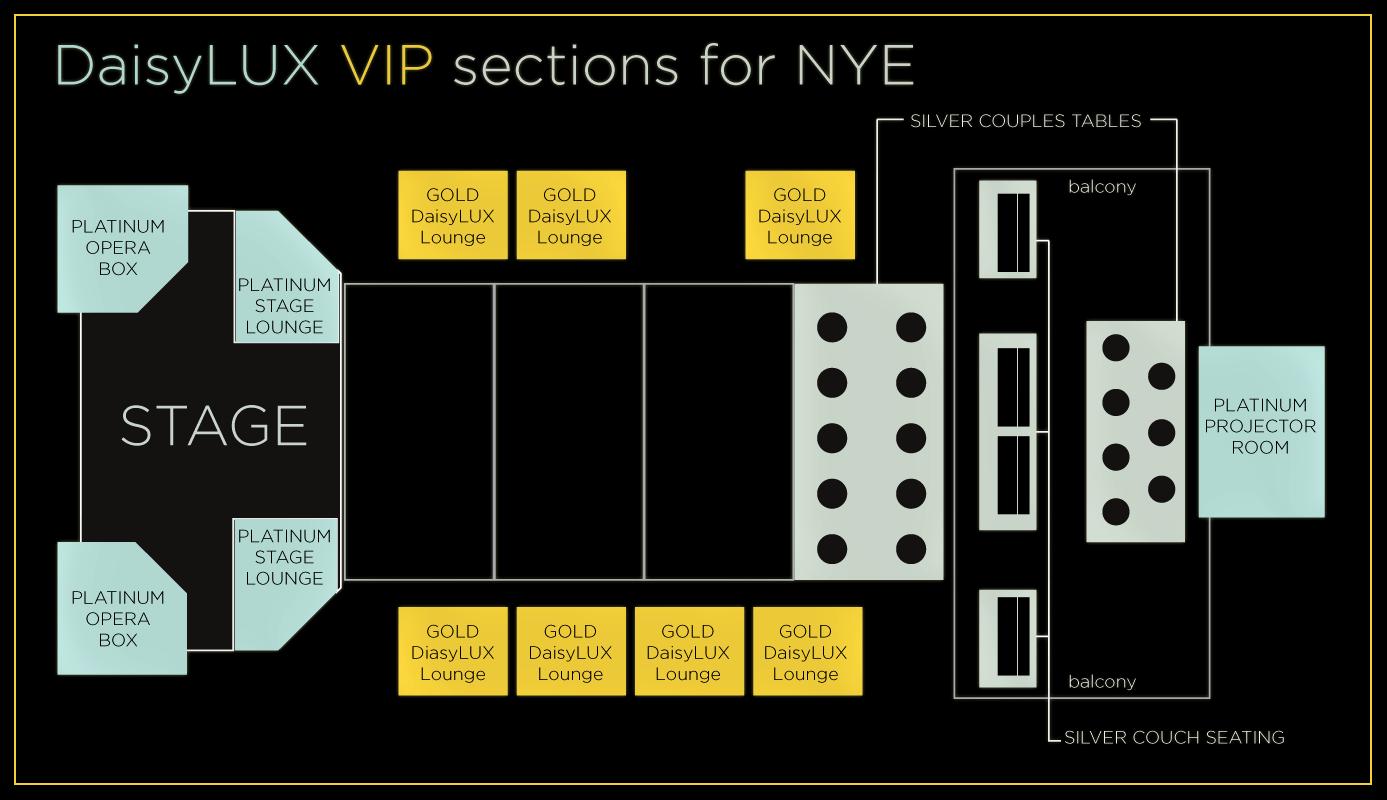 DaisyLUX VIP Map NYE