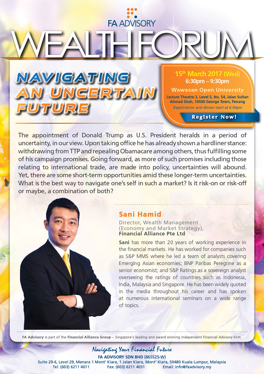 Wealth Forum 2017 @Penang