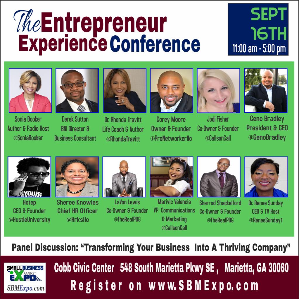 The Entrepreneur Experience Conference Atlanta Georgia