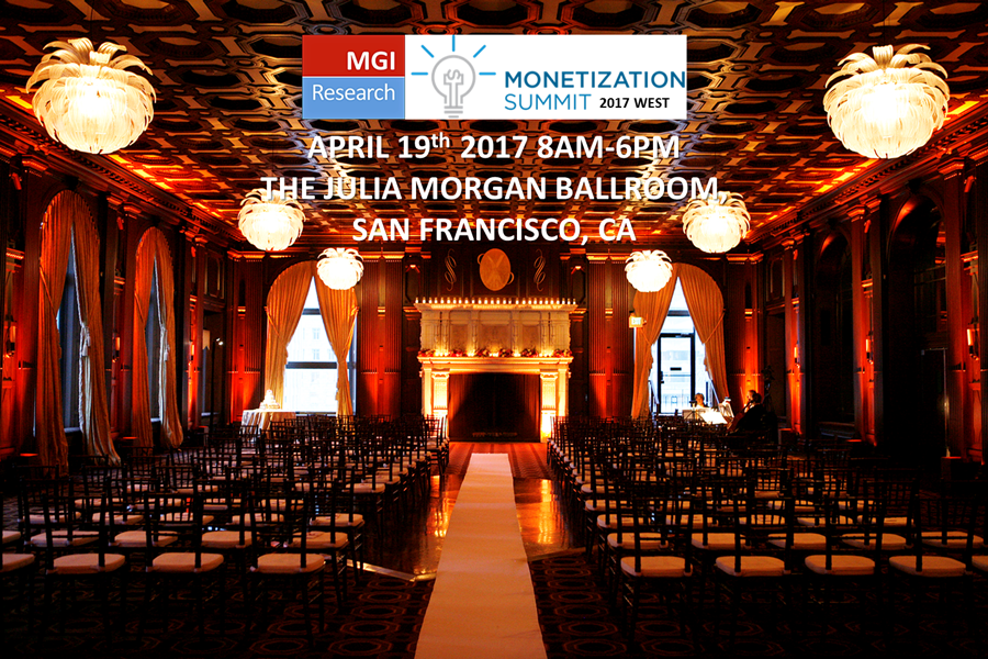 MGI Research 2017 Monetization Summit WEST